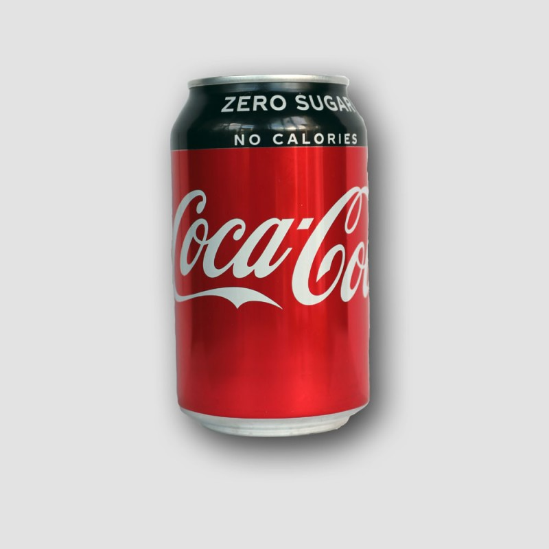 Can of Coca cola zero sugar