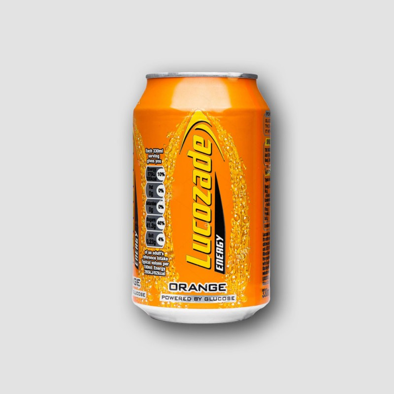 Can of Lucozade Energy Orange 330ml