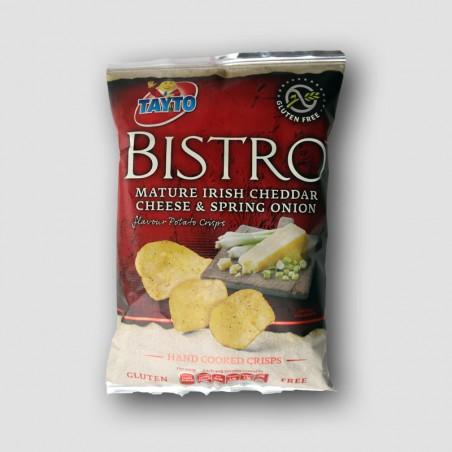 Tayto Bistro crisps Cheddar Cheese & Spring Onion flavour