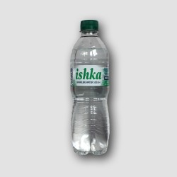 bottle of Ishka sparkling water