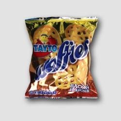 Pack of tayto waffles bacon crisps