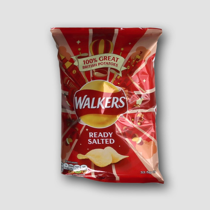 Pack of walkers ready salted crisps