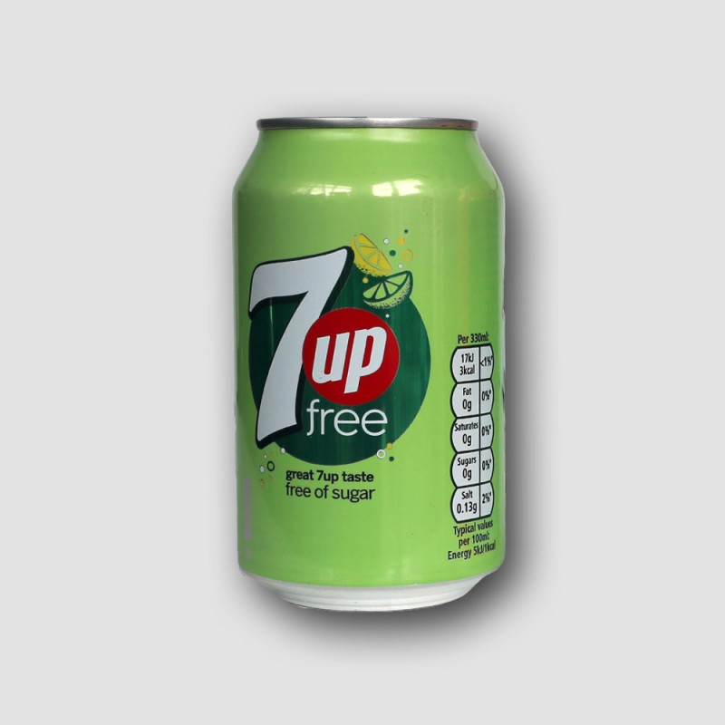 Can of 7up sugar free