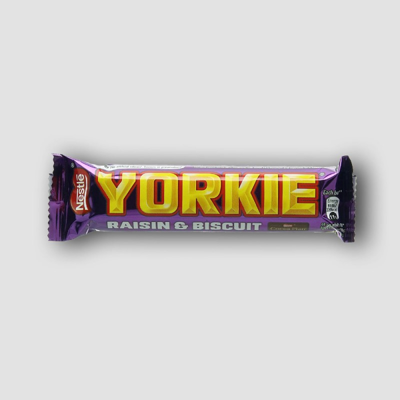Nestle yorkie raisin and biscuit chocolate bar