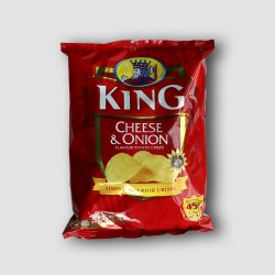 Pack of king cheese and onion crisps