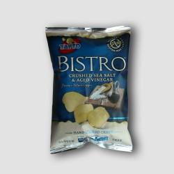 Pack of tayto bistro crushed sea salt and vinegar crisps