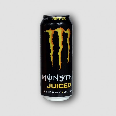 Can of monster juiced energy drink