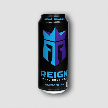 Can of Reign berry energy drink
