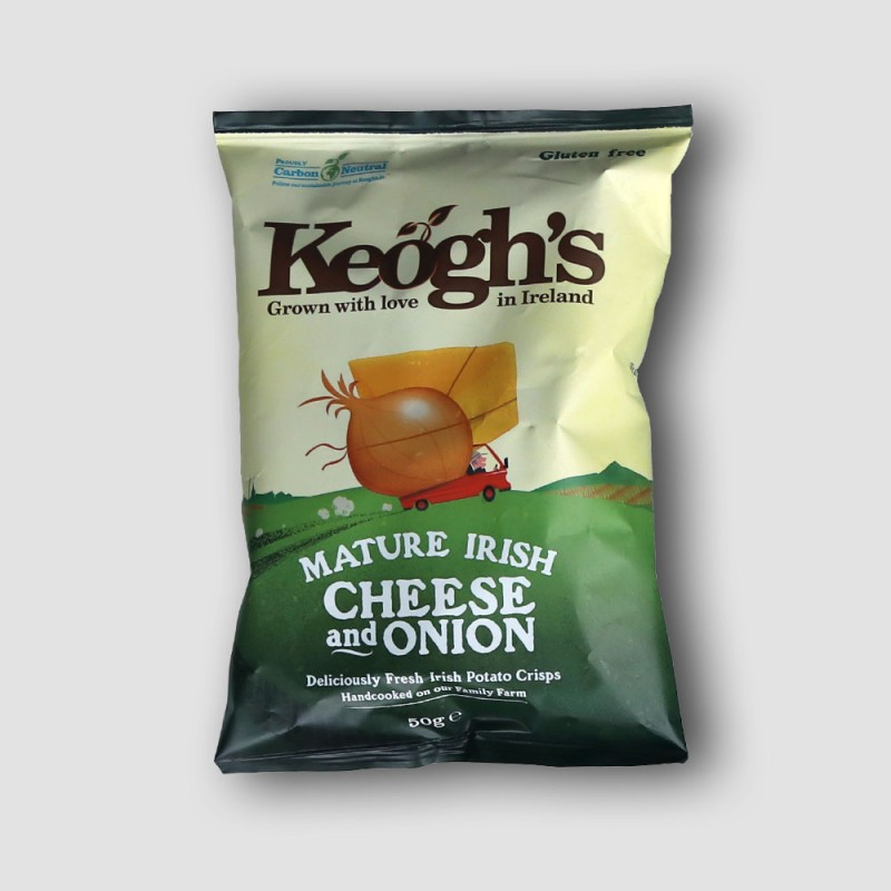 Pack of keoghs cheese and onion crisps