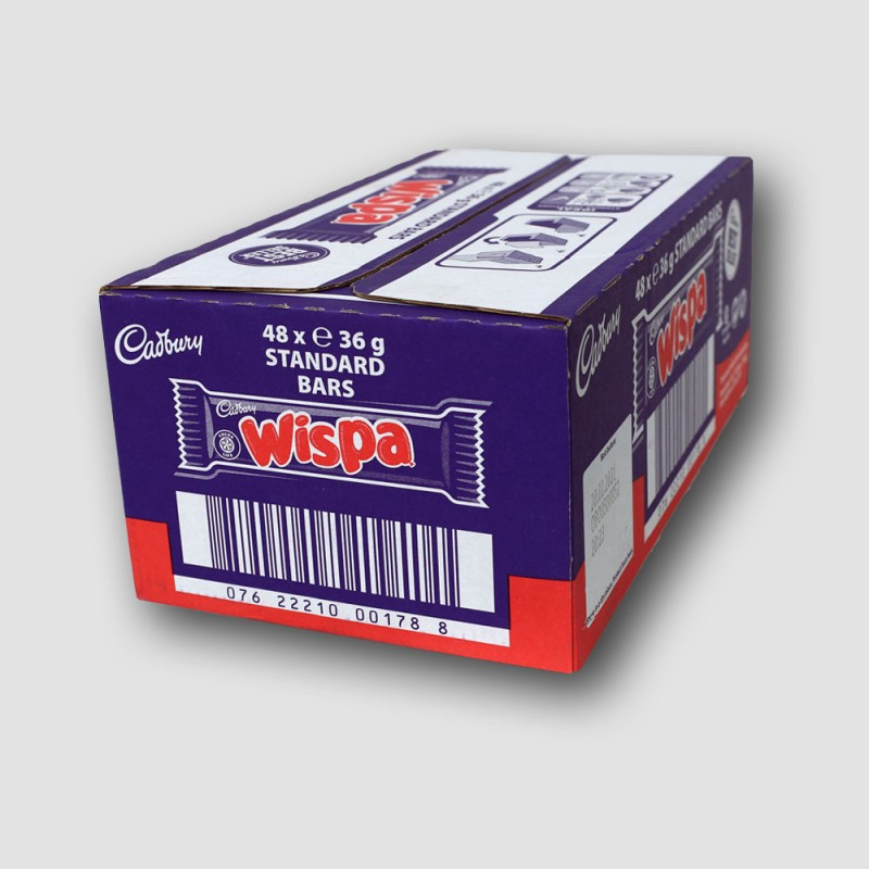 box of cadbury wispa chocolate bar