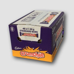 Box of cadbury crunchie choclate bar
