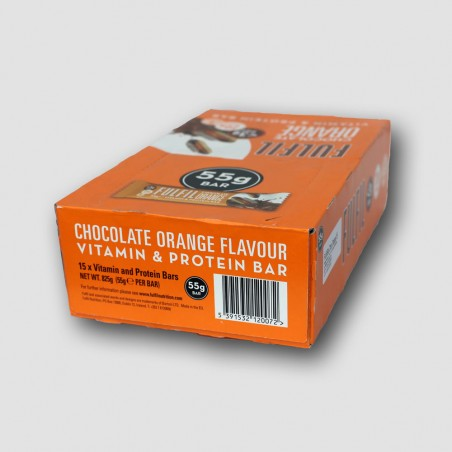 box of fulfil orange protein bars