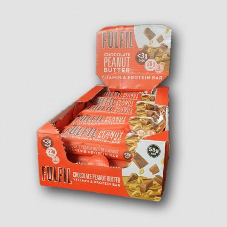 Fulfil Chocolate Peanut and  Caramel protein bar, fulfil box