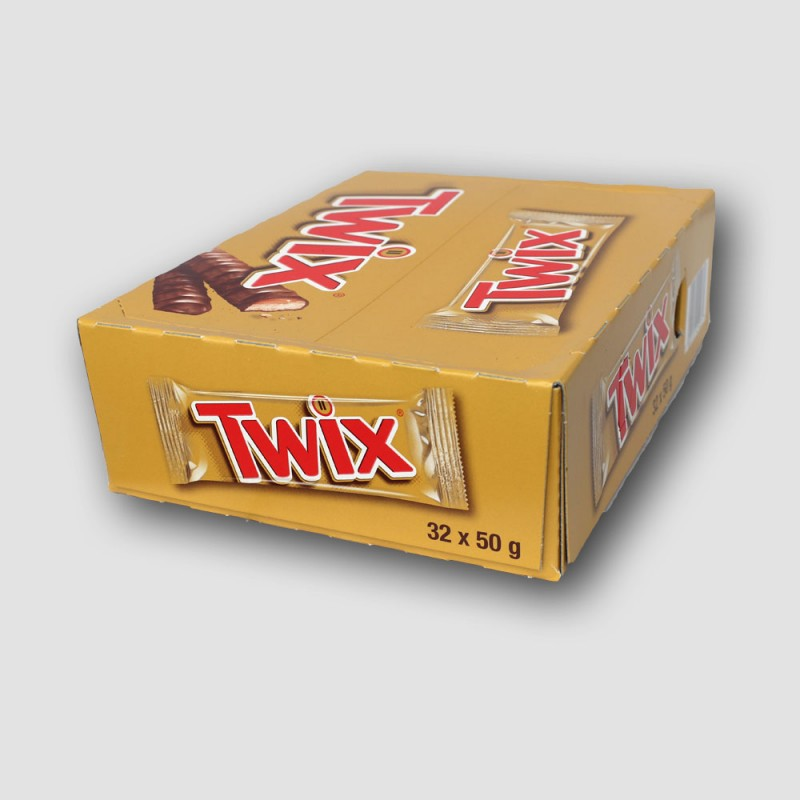 Box of 32 twix chocolate bars