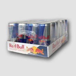 24 pack of Red Bull energy drink cans