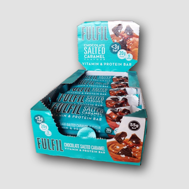 Fulfil box of Chocolate Salted Caramel protein bars