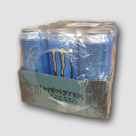 Monster energy ultra blue cans 12 pack