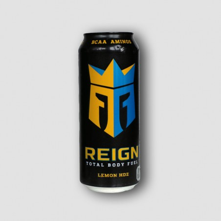 Can of reign lemon energy drink