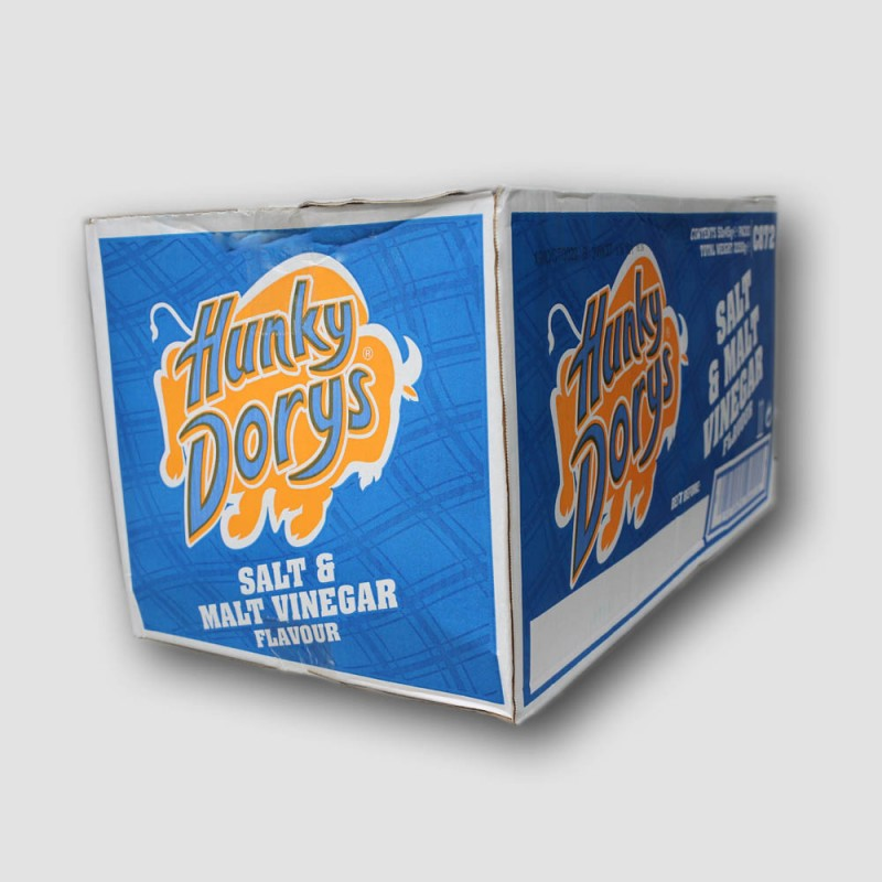 Hunky Dorys crisps 50 packs of Salt & Malt Vinegar