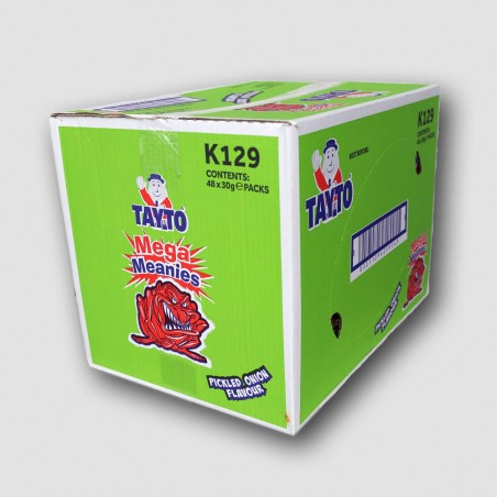 Tayto Mega Meanies crisps box onion flavour