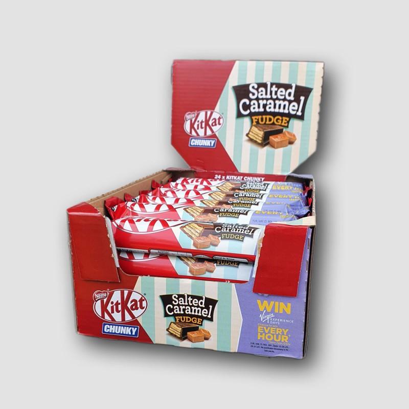 Kitkat chunky box salted caramel chocolate bars