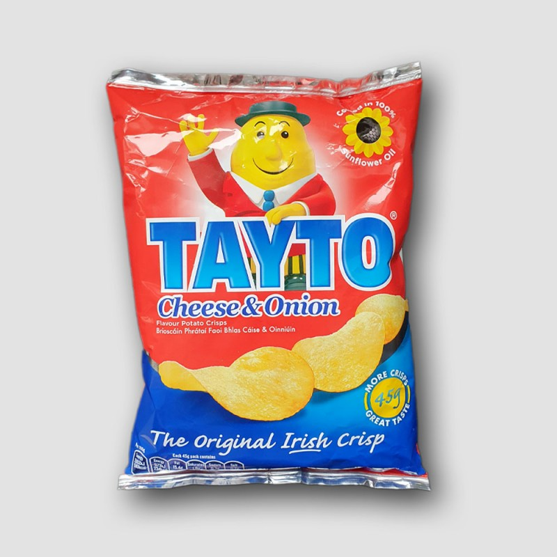 Pack of Tayto cheese and onion crisps
