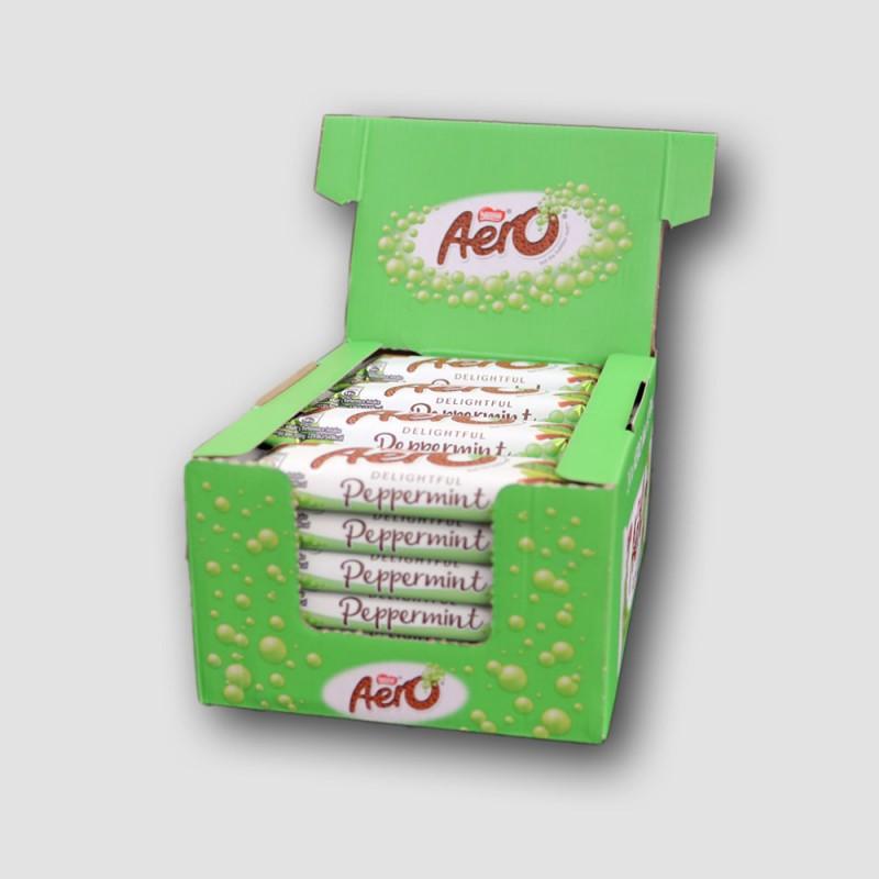 Box of Nestle aero peppermint bars