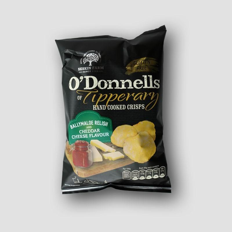 O'Donnells crisps Ballymaloe Relish & Chedar Cheese